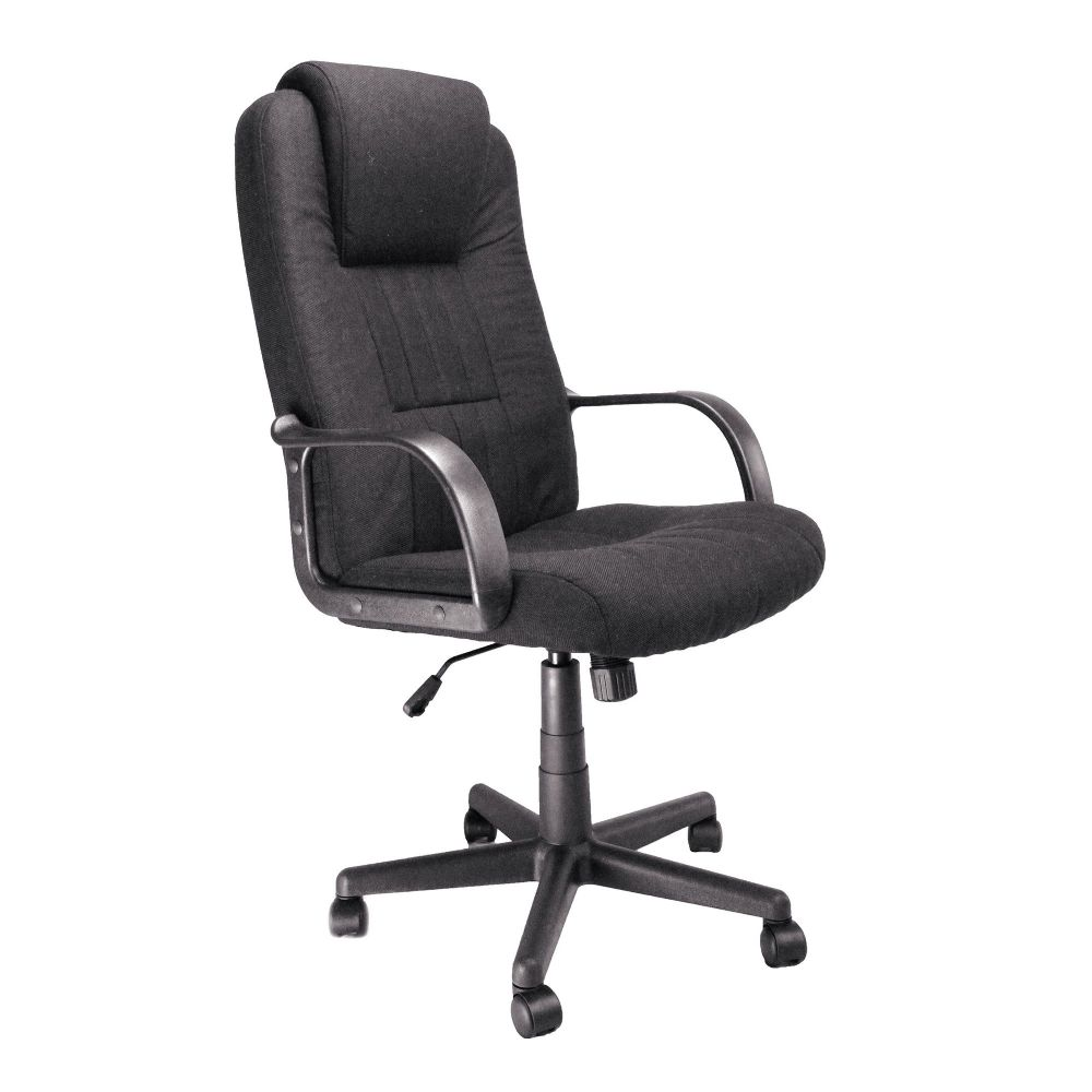 Bravo High Back, Executive Armchair, Black Fabric, Incorporated Head Support